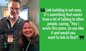 Building links is about having the conversation