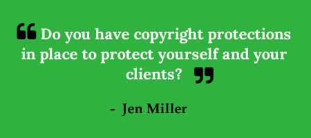 Do you consider copyright when you hire a blogger?