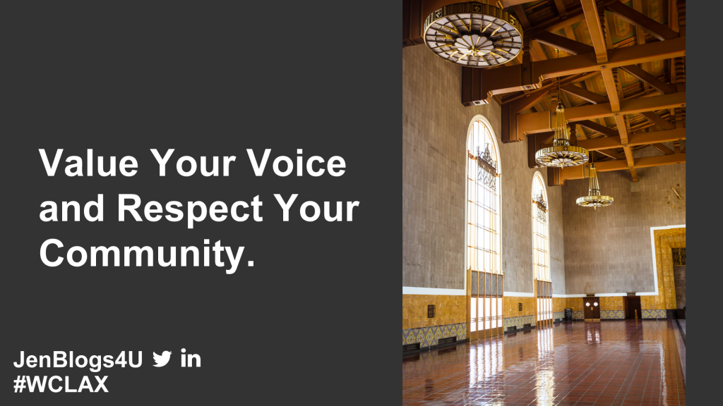 Respect Your Voice and Community